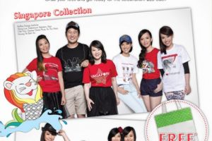Raffles Designers' Self-Designed T-shirts Sold at Bossini Stores in Singapore