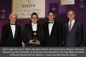 RafflesEducationCorp Receives International Star Award For Quality In Geneva