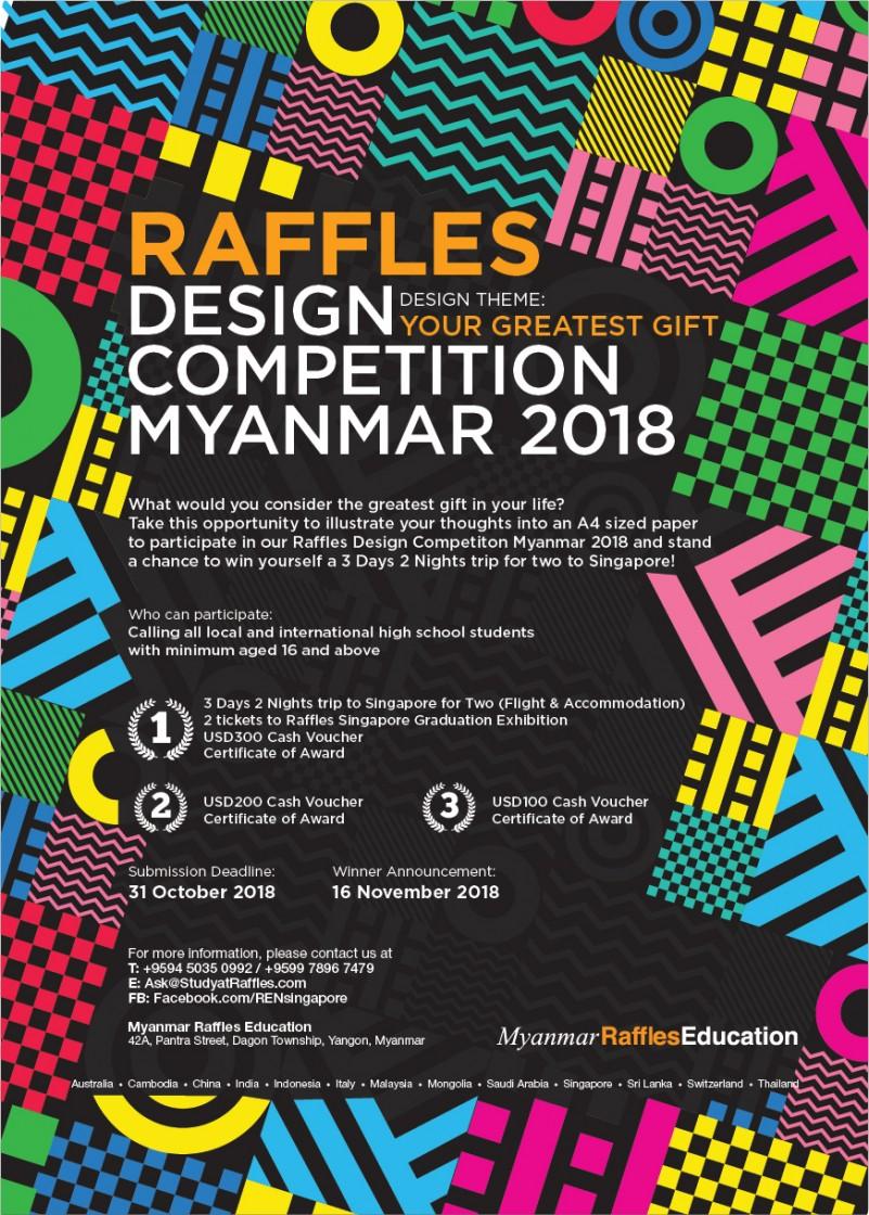 Raffles Design Competition Myanmar 2018